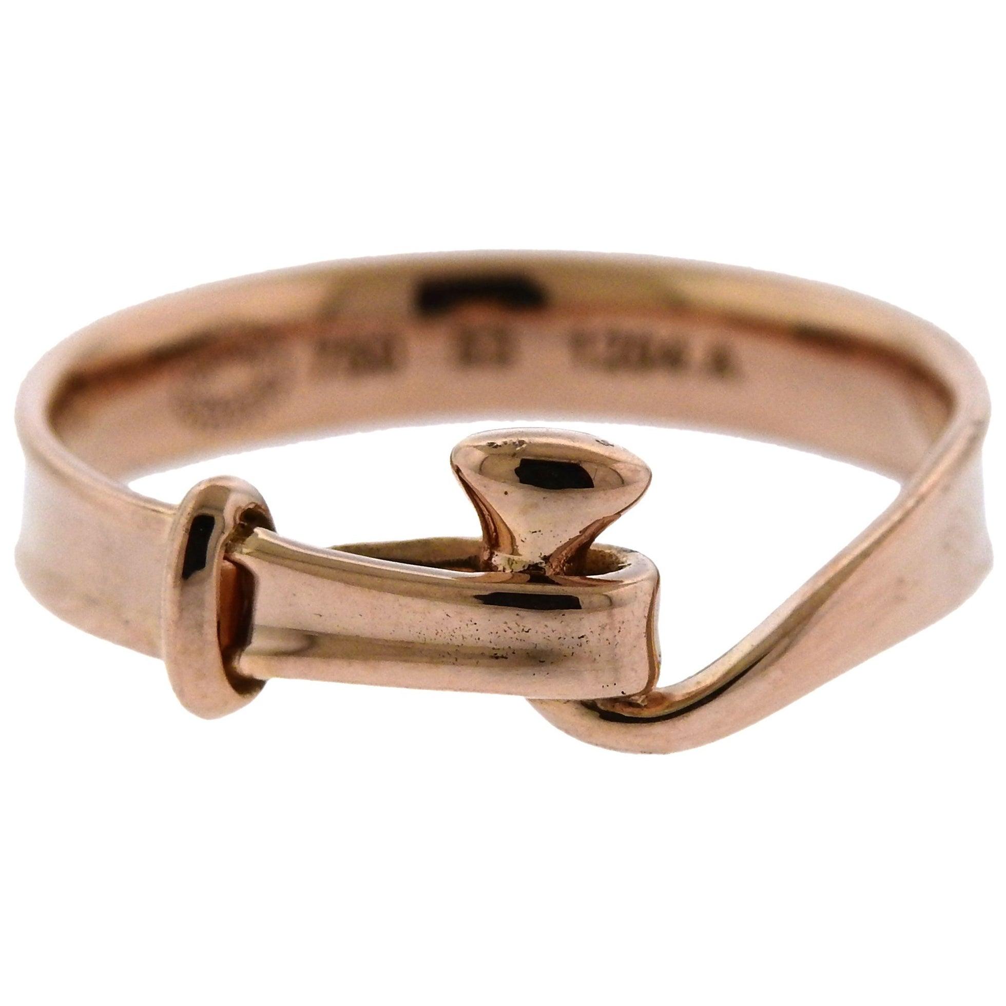 Georg Jensen Torun Rose Gold Hook Ring