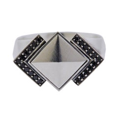 Georg Jensen Nocturne Black Diamond Sterling Silver Ring