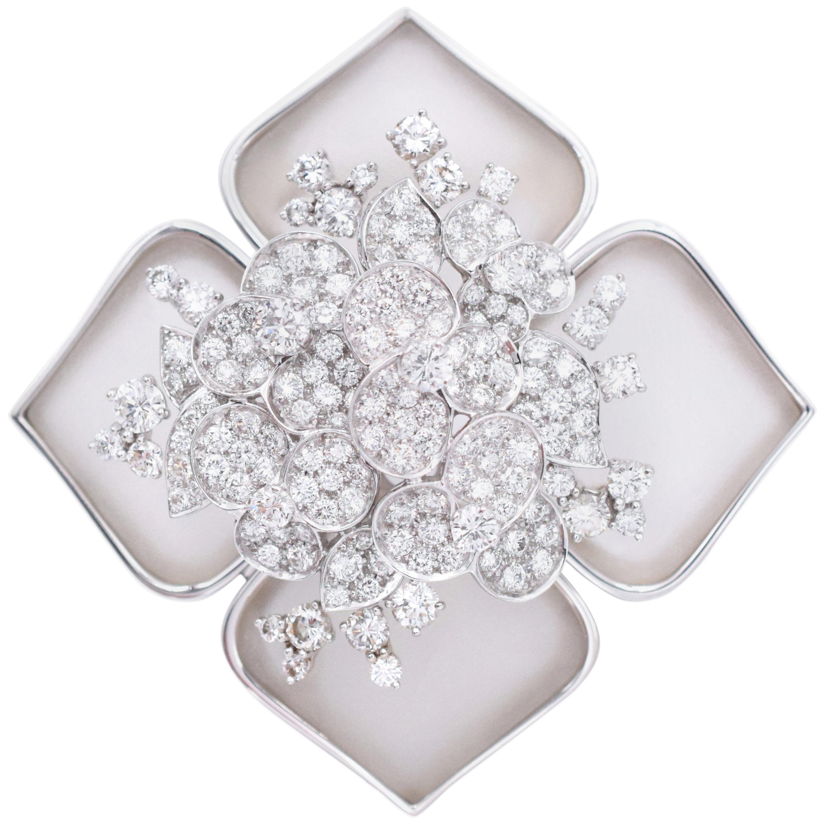 """Van Cleef & Arpels """"Hellebore"""" Diamond Brooch"""