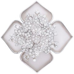 "Van Cleef & Arpels ""Hellebore"" Diamond Brooch"