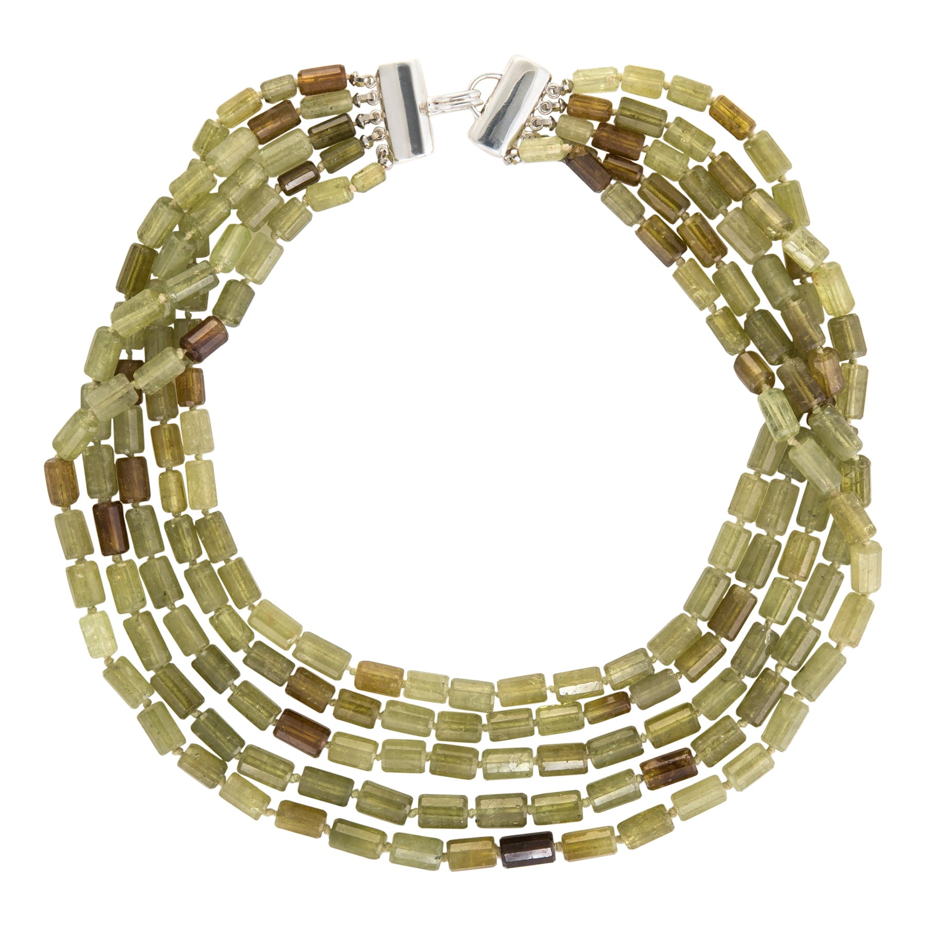 a3896f75c Vintage Tiffany and Co. Chrysoberyl Necklace Torsade Multi 5-Strand Estate  Jewelry at 1stdibs