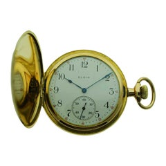 Elgin Yellow Gold Filled Hunters Case Pocket Watch, circa 1911