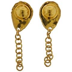 Jean Mahie Gold Chain Drop Earrings