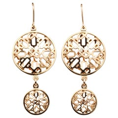 Hermes Chaine D'Ancre Passarelle 18 Karat Rose Gold Drop Earrings