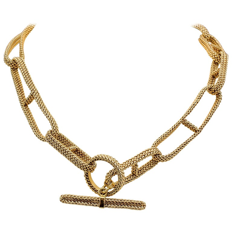 Hermès gold Chaîne d'ancre, late 20th century, offered by Botier Inc