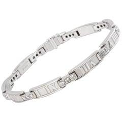 Tiffany & Co. Atlas Bracelet in 18 Karat White Gold 1.48 Carat