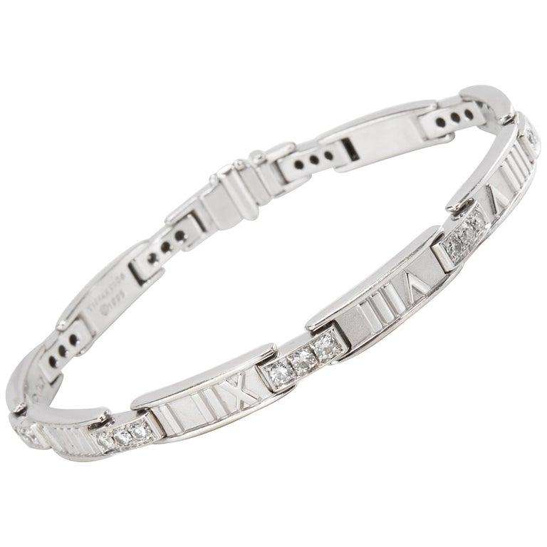 ff4f95daf Tiffany and Co. Atlas Bracelet in 18 Karat White Gold 1.48 Carat For ...