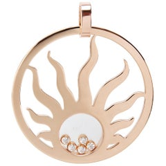 Chopard Happy Diamonds Sun Pendant in 18 Karat Rose Gold 1/2 Carat