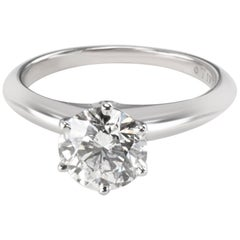Tiffany & Co. Diamond Solitaire Engagement Ring in Platinum 1.52 Carat H/VVS1
