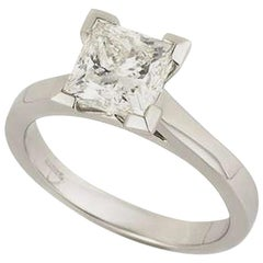 GIA Certified Princess Cut Diamond Engagement Ring 2.01 Carat