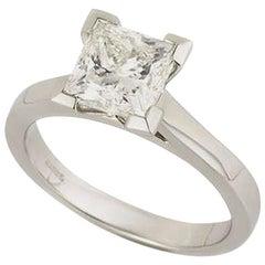 GIA Certified Princess Cut Diamond Engagement Ring 2.01 Carat