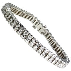 DiamondTown 5.5 Carat Diamond Tennis Bracelet in 14 Karat White Gold