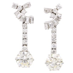 GIA Certified Diamond Drop Earrings 8.80 Carat