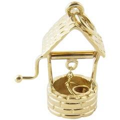 14 Karat Yellow Gold Wishing Well Charm
