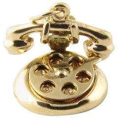 14 Karat Yellow Gold Rotary Dial Telephone Charm