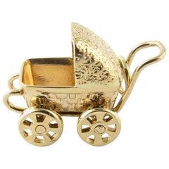 14 Karat Yellow Gold Baby Carriage/Pram Charm