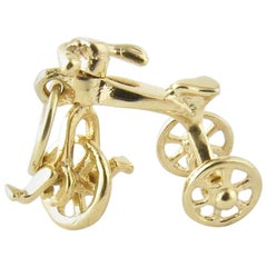 14 Karat Yellow Gold Tricycle Charm