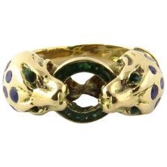 18 Karat Yellow Gold Serpent Ring