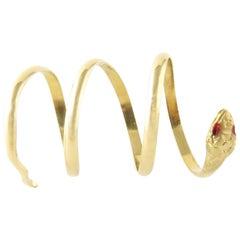 18 Karat Yellow Gold Snake Ring