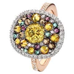 Joke Quick 18K Rose & White gold 2,4 Carat Pave Diamond Cocktail Ring