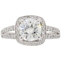 Scott Kay Diamond Halo Engagement Ring