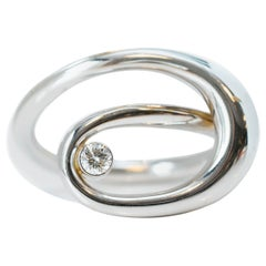 Infinity Swirl 18 Karat White Gold Diamond Ring
