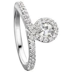 Joke Quick 18K White Gold Brilliant- and Rose-cut Diamond Engagement ring
