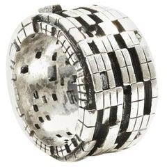 Bitcoin Blockchain Silver Ring