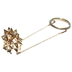 18k Gold and Diamond Stella Thimble Ring