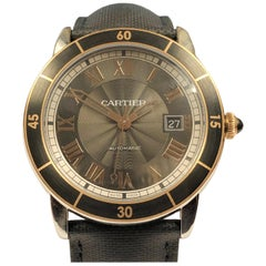 Cartier Ronde Croisiere de Cartier Steel and Rose Gold Automatic Gents Watch