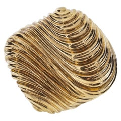 Henry Dunay Ribbed Dome Yellow Gold Ring