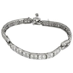 Cartier 1920 Diamond Platinum Bracelet