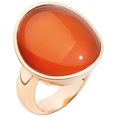 Vhernier Giotto Ring 18 Karat Rose Gold and Cornelian Rock Crystal