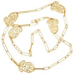 Pomellato Acorn Rose Gold Long Necklace