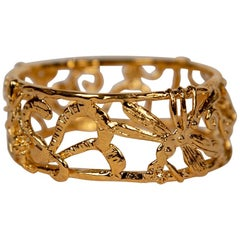 "Gold-Plated Bronze ""Zoo"" Bracelet by Franck Evennou, France, 2018"