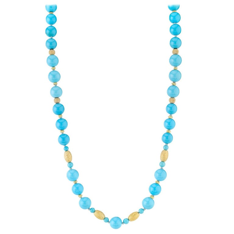 Natural Sleeping Beauty Turquoise Beads For Sale