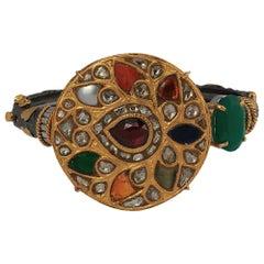 Manjrie Ruby Pearl Coral Sapphire Diamond Onyx 18k Gold Silver Artisan Bracelet