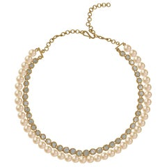 Manjrie Pearl Uncut Diamond 18K Gold Artisan Necklace