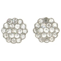 Diamonds, 18 Karat White Gold, Stud Earrings