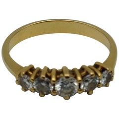Yellow Gold 18 Karat with Diamonds Ring