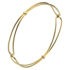 Timeless 9 Karat Yellow Gold Wire Solid Bangle
