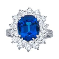 Tiffany & Co. 3.90 Karat Tansanit, 1.60 Karat Diamant Cocktail-Ring in Platin