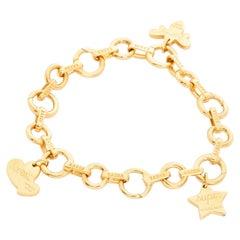 Aaron Basha Open Link Charm Bracelet with Tiffany & Co. Charms
