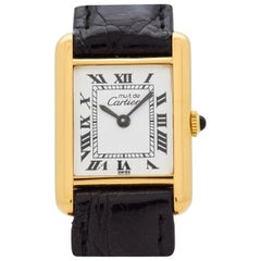 Cartier Tank Must de Ladies Sized Watch, 1980s