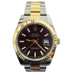 126333 Rolex Datejust II 18 Karat Yellow Gold and Steel Box and Papers, 2018