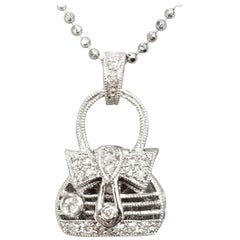"14 Karat Diamond ""Purse"" Pendant"