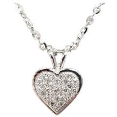 14 Karat Diamond Pave' Heart