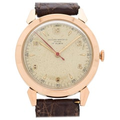 Vintage Record Watch Co. 18 Karat Rose Gold Case, 1950s