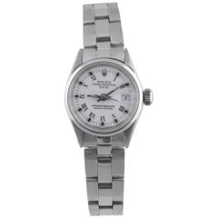 Rolex Ladies Stainless Steel Date White Roman Ref. 6516
