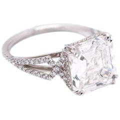 GIA Certified 5 Carat White Diamond, Asscher Cut, G Color, VS1